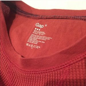 GAP Shirts - GAP Thermal Long Sleeve Tee - Red